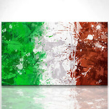 Italienische Flagge Bild Leinwand Abstrakt Bilder Wandbild Kunstdruck D0110