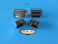 70-72 CHEVELLE HARDTOP COUPE REAR ARMREST ARM REST CHROME ASH TRAY PAIR ASHTRAY