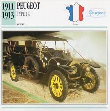 1911-1913 PEUGEOT Type 139 Classic Car Photograph / Information Maxi Card