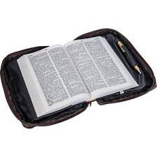 Alligator Design Girl Genuine Leather Bible Cover, Large Zippered Book Protector