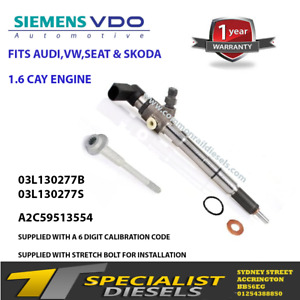 AUDI VW SEAT 1.6 RECONDITIONED INJECTOR 03L130277S 03L130277B 1 YEAR WARRANTY