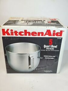 KITCHENAID Lift Stand Mixer 5 Qt Stainless Steel Replacement Mixing Bowl +Beater