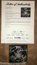 KISS signed Symphony Alive IV CD cover booklet by all 4 members PSA DNA LOA COA