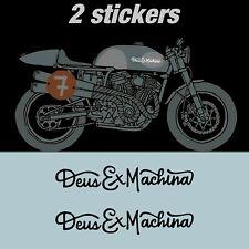 2 Pegatinas Deus ex Machina casco moto cafe racer tanque brat stickers scrambler