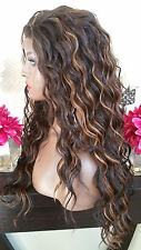 Beautiful Brown/Auburn Mix Wavy Lace Front Wig Heat Safe