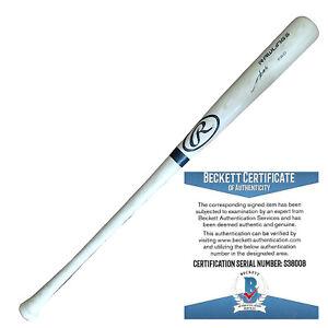 Munenori Kawasaki Chicago Cubs Signed Baseball Bat Fukuoka Blue Jays Beckett BAS