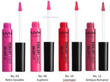 NYX Lip Lustre Glossy Lip Tint - Choice of 4 Shades as Shown - Sealed - 8ml