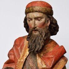 Hl. Wendelin Holz geschnitzt fränkisch um1500 Gotik Mittelalter Renaissance 80cm