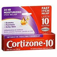 Cortizone 10 Intensive Healing Anti-Itch Cream  Maximum Strength 28 g 1 oz