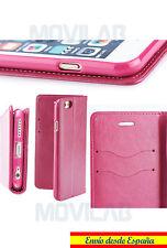 Funda tapa libro gel TPU tarjetas cierre magnético Apple Iphone 6 Plus 6+ fucsia