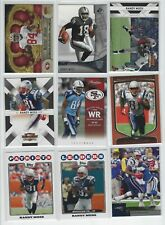 Randy Moss 9 different card lot SP UD Topps Threads Crown Bowman Prestige