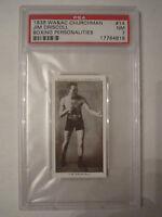 1938 JIM DRISCOLL BOXING CHURCHMAN PSA GRADED 7 NEAR - MINT CARD