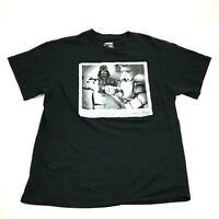 STAR WARS Storm Trooper Poker Face Shirt Size L Large Mens Black Tee Lucas Films
