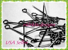 18mm 150pc Gunmetal Black EyePins Pins Eye Jewelry Findings Earrings Necklace