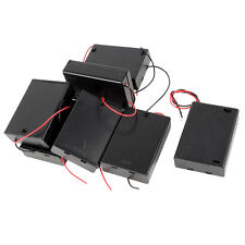 7 Pcs ON/OFF Switch Plastic Cover 3x1.5V AA Batteries Case Box Holder