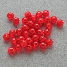 6mm 200 Count Round Fluorescent RED Beads USA Fishing Tackle Free Shipping