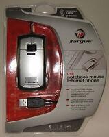 Ratón y teléfono Internet con USB 2 en 1 Targus para skype, MSN etc.
