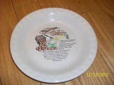 "NWOT Decorative 10"" Stoneware white Pie Plate ""Red Cherry Pie"" Recipe  on it"