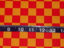 Red and Gold Squares Fabric - 1 yard - Free Spirit  -  Fowl Play