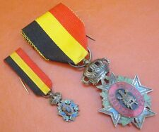 ORIGINAL BELGIUM MEDAL FOR INDUSTRY AND AGRICULTURE WITH MINIATURE
