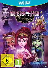 Monster High: 13 Wünsche Nintendo Wii U DVD-Box Set Game Spiel Deutsch NEU OVP