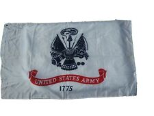White Us Army Crest Flag United States Military Banner Polyester 3x5 Foot Flags