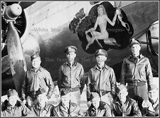 Photo: Nose Art: Spare Parts: B-17 Bomber With Crew - WWII, 1944