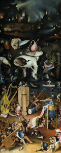 Hell - Hieronymus Bosch - 35X84cm QUALITY Decor Canvas Art Print Poster Unframed