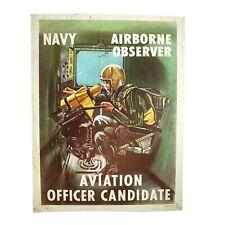 Vintage 1950s Navy Cold War Poster Aviation Officer Candidate NRAF 32105