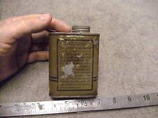 US WW2 era Us Military Issue Full  6oz Tin Of Bore Cleaner, Empty Tin