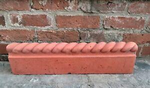Double Rope top path edge terracotta colour concrete  garden border COLLECTION
