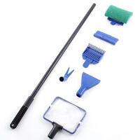 5 in1 Tank Aquarium Cleaning Brush Gravel Rake Net Fork Sponge ABS Plastic