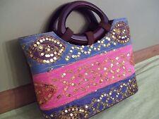 Canvas Tote Bag, Purse, Handbag, or Travel Bag with Sequins