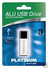 Platinum Alu 8 GB USB-Stick USB 2.0 silber 177556