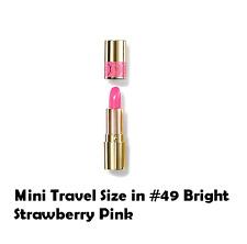 Yves Saint Laurent Rouge Volupte Shine Lipstick .06oz #49 Bright Strawberry Pink