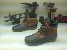 DONNER MOUNTAIN DISTRESSED BROWN LEATHER LACE UP WORK TRAIL BOSS BOOTS SIZE 10 M