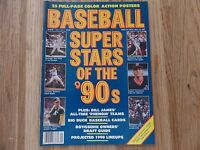 BASEBALL SUPER STARS OF THE 90'S MAGAZINE WITH PROFILES ON THE STARS