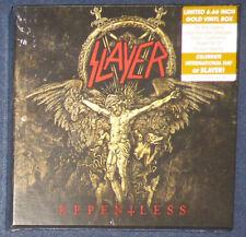 Slayer - Repentless 6 x 6 2/3 inch vinyl Boxed Set on Gold vinyl.