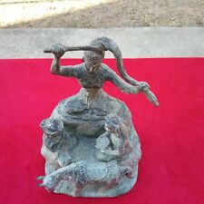 RARE ANTIQUE EARLY CENTURY CHINESE BRONZE STATUE RENUNCIATION BUDDHA FIGURE OLD