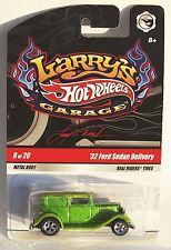 Hot Wheels Larry's Garage 32 Ford Sedan Delivery Green 2010 Real Riders #8 NEW
