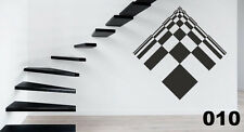 ABSTRACT OPTICAL ILLUSION GEOMETRIC VINYL WALL STICKER GRAPHIC XXL  010
