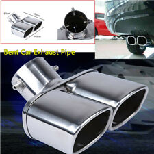 "Car Stainless Steel Dual Exhaust Tip Square Tail Pipe Muffler  63mm/2.5"" Silver"