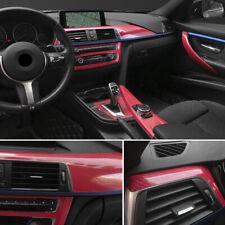 4D Car Interior Accessories Interior Panel Red Carbon Fiber Vinyl Wrap Sticker