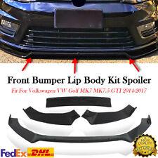 Front Bumper Lip Spoiler Body Kit For Volkswagen Golf MK7 MK7.5 GTI R GTD 14-19