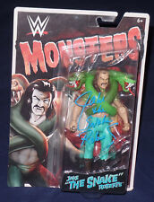 JAKE THE SNAKE ROBERTS SIGNED AUTO'D MONTERS ACTION FIGURE BAS COA WWE WWF