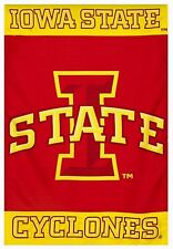 """IOWA STATE CYCLONES Screen Print Flag   Iowa State Man Cave Must  28"""" by 40"""""""