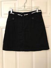 White Stag Skort Shorts Skirt Black Belted Size 6