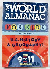 The World Almanac For Kids Puzzler Deck History Geography Home School New Sealed