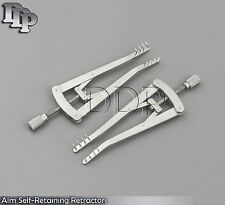 """Alm Self-Retaining Retractors 3"""" Ophthalmic Eye Surgical ENT Instruments 2 pcs"""