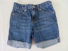 Gymboree Cuffed Denim Jean Shorts Adjustable Waist Blue Size 5  #7154